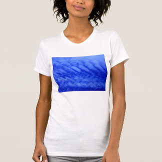 Bright Blue Fish Gill Clouds by KLM Shirt