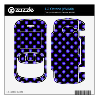 bright blue floral pattern on black decal for the LG octane