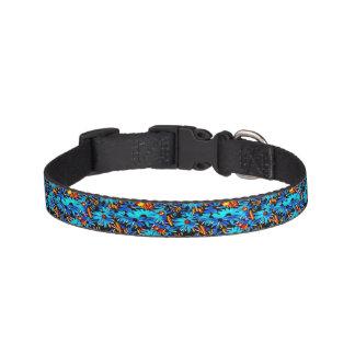 Bright Blue Floral Poochi Poo Pet Collar
