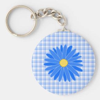 Bright Blue Flower Keychain