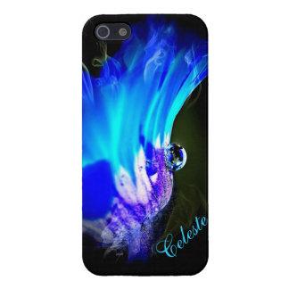 Bright Blue Flower W/Dew Drop iPhone 5/5s case