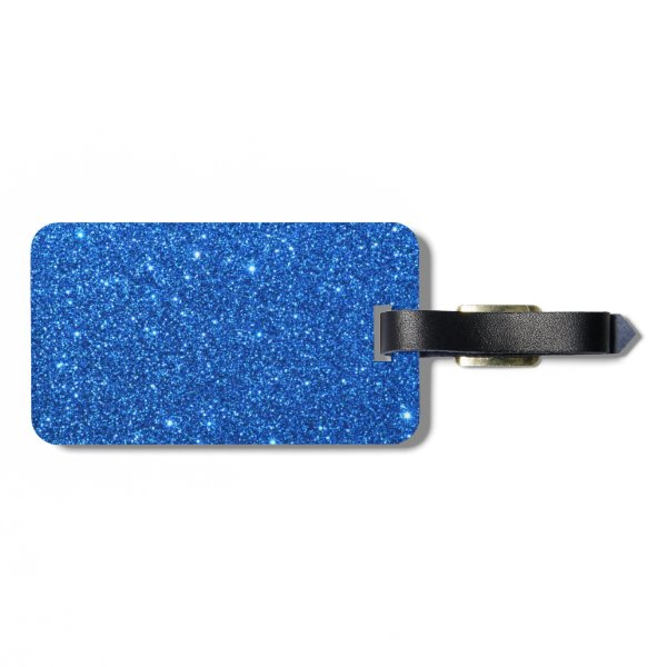 Bright Blue Glitter Sparkles Bag Tag