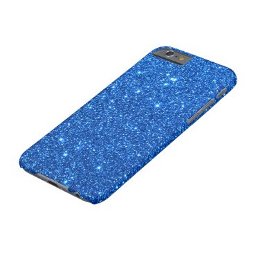 Beach Themed Bright Blue Glitter Sparkles Barely There iPhone 6 Case