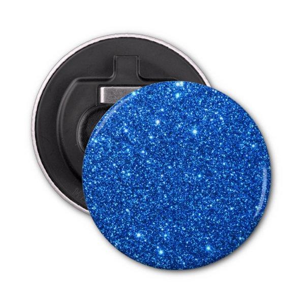 Bright Blue Glitter Sparkles Bottle Opener