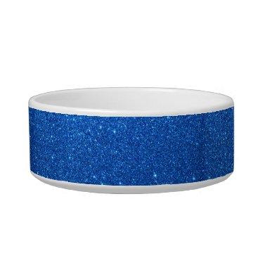 Beach Themed Bright Blue Glitter Sparkles Bowl