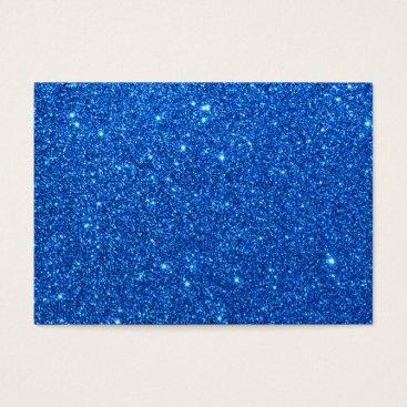 Beach Themed Bright Blue Glitter Sparkles Business Card