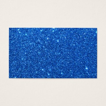 Beach Themed Bright Blue Glitter Sparkles Business Card