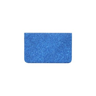 Beach Themed Bright Blue Glitter Sparkles Business Card Holder