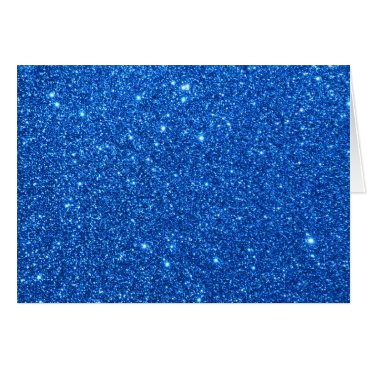 Beach Themed Bright Blue Glitter Sparkles Card