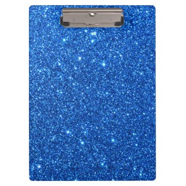 Beach Themed Bright Blue Glitter Sparkles Clipboard