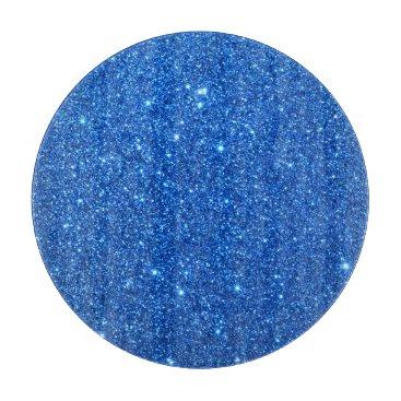 Beach Themed Bright Blue Glitter Sparkles Cutting Board