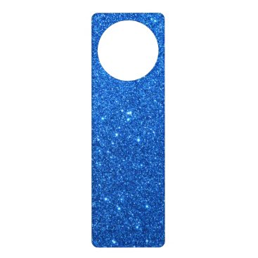 Beach Themed Bright Blue Glitter Sparkles Door Hanger