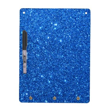 Beach Themed Bright Blue Glitter Sparkles Dry Erase Board