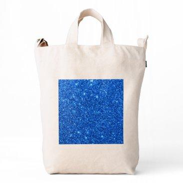 Beach Themed Bright Blue Glitter Sparkles Duck Bag