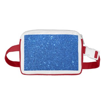 Beach Themed Bright Blue Glitter Sparkles Fanny Pack