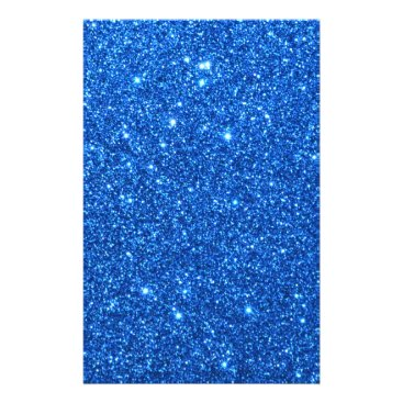 Beach Themed Bright Blue Glitter Sparkles Flyer