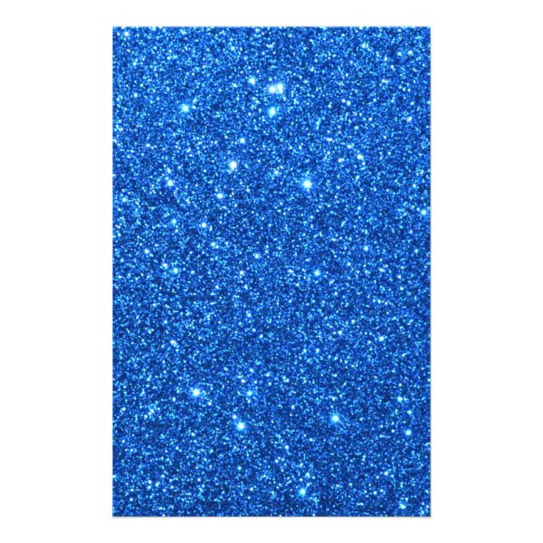 Bright Blue Glitter Sparkles Flyer