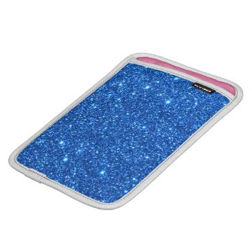 Beach Themed Bright Blue Glitter Sparkles iPad Mini Sleeve