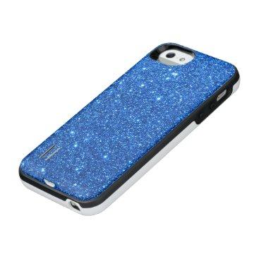 Beach Themed Bright Blue Glitter Sparkles iPhone SE/5/5s Battery Case