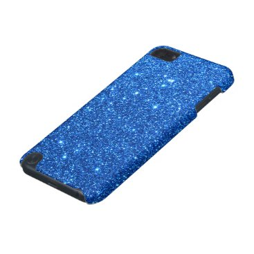 Beach Themed Bright Blue Glitter Sparkles iPod Touch (5th Generation) Case