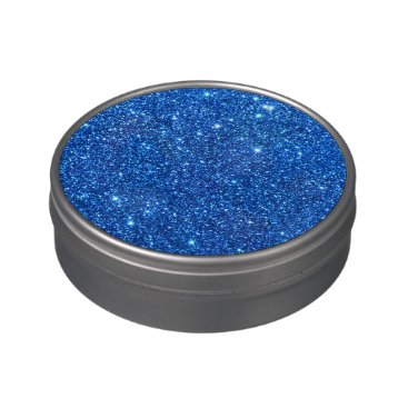 Beach Themed Bright Blue Glitter Sparkles Jelly Belly Candy Tins