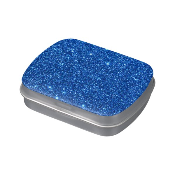 Bright Blue Glitter Sparkles Jelly Belly Tins