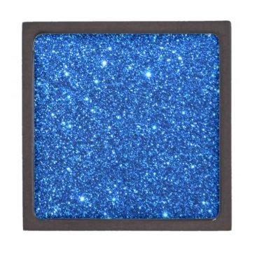 Professional Business Bright Blue Glitter Sparkles Jewelry Box