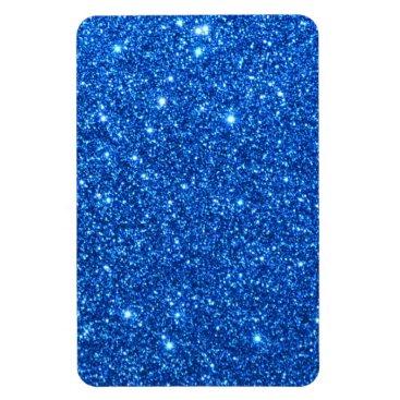 Beach Themed Bright Blue Glitter Sparkles Magnet