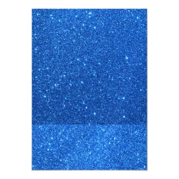 Beach Themed Bright Blue Glitter Sparkles Magnetic Card