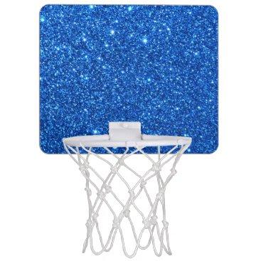 Beach Themed Bright Blue Glitter Sparkles Mini Basketball Hoop