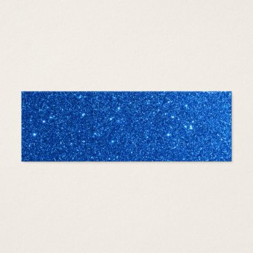 Beach Themed Bright Blue Glitter Sparkles Mini Business Card