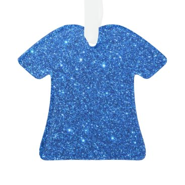 Beach Themed Bright Blue Glitter Sparkles Ornament