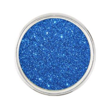 Beach Themed Bright Blue Glitter Sparkles Pin
