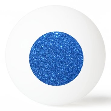 Beach Themed Bright Blue Glitter Sparkles Ping-Pong Ball