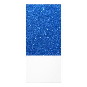 Beach Themed Bright Blue Glitter Sparkles Rack Card