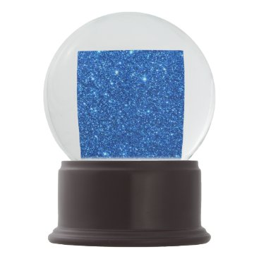 Beach Themed Bright Blue Glitter Sparkles Snow Globe