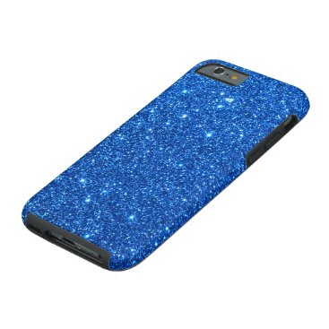 Beach Themed Bright Blue Glitter Sparkles Tough iPhone 6 Case