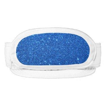 Beach Themed Bright Blue Glitter Sparkles Visor