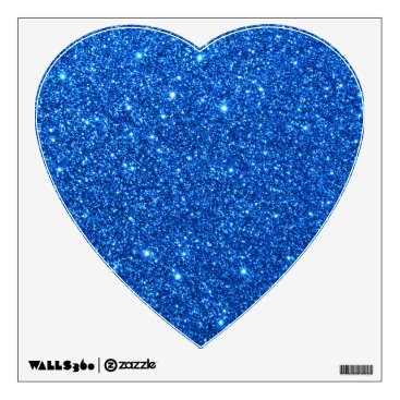 Beach Themed Bright Blue Glitter Sparkles Wall Sticker
