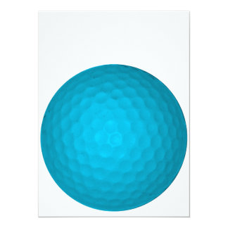 Bright Blue Golf Ball Card
