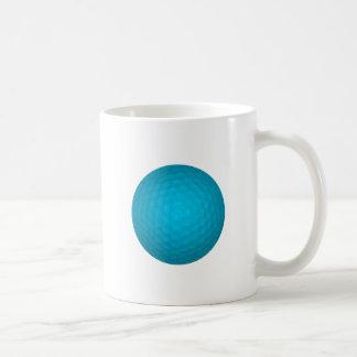 Bright Blue Golf Ball Coffee Mug