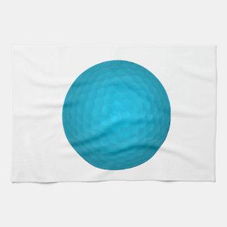 Bright Blue Golf Ball Kitchen Towels