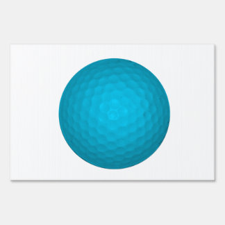 Bright Blue Golf Ball Sign