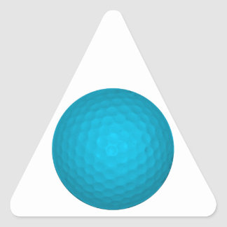 Bright Blue Golf Ball Triangle Sticker