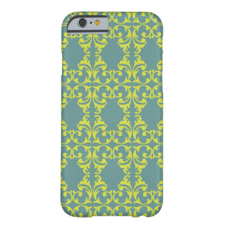 Bright Blue-Green Fleurish Barely There iPhone 6 Case