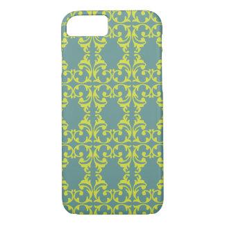 Bright Blue-Green Fleurish iPhone 8/7 Case