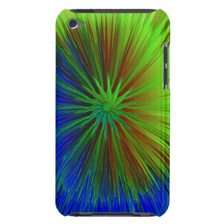 Bright Blue Green Star Burst iPod Touch Case-Mate Case