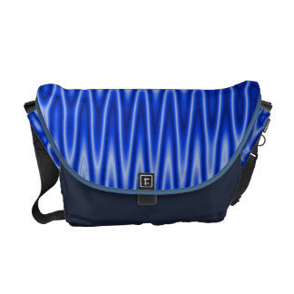 Bright blue groovy pattern courier bags