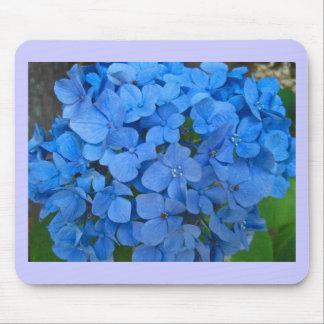 Bright Blue Hydrangea Mouse Pad