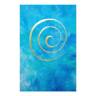 Bright Blue - Infinity espiral oro azul Bowman